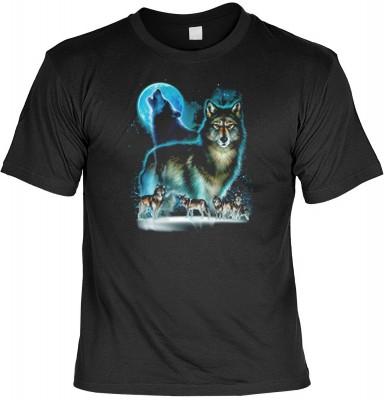 Top Qualität! <b> Mythologie der Ureinwohner Nordamerikas T-Shirt Wolf Moon Silhouette in schwarz </b>,fällt sofort ins Auge und sorgt für einen gelungenen Auftritt.<br /><br />T-shirt namenhafter Hersteller in bester Qualität.<b><b>Angenehme u. weiche Qu