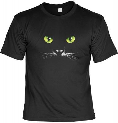 Top Qualität! HK_MTS_01_07268D4 mit dem Motiv: <br><b>Katzen Augen T-shirt Schwarze Katze Fb schwarz</b>,fällt sofort ins Auge und sorgt für einen gelungenen Auftritt.<br><br>T-shirt namenhafter Hersteller in bester Qualität, wie <b>Stedman</b> oder <b>Fr