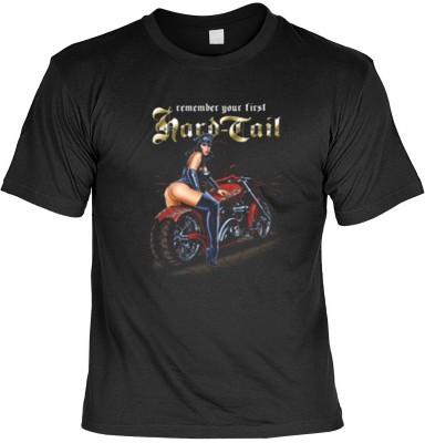 Top Qualität! HK_USA_01_12651-P16 mit dem Motiv: <br><b>Motorradfahrer T-Shirt Hard Tail Fb schwarz auch in 3xL 4xL 5xL</b>,fällt sofort ins Auge und sorgt für einen gelungenen Auftritt.<br><br>T-shirt namenhafter Hersteller in bester Qualität, wie <b>Ste
