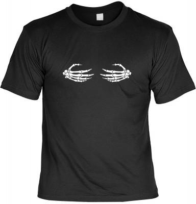 Skeletal Hands mit der Artikel-Nr.: HK_Mot_01_17595E2<b>Biker - Motiv T-Shirt</b><br><br><br><b><u>Angaben zum Produkt vom Hersteller:</u><br><br><b><i>Das Material ist 100% Baumwolle</b><b>Die Tshirts haben ein Schulter zu Schulter Nackenband für bessere