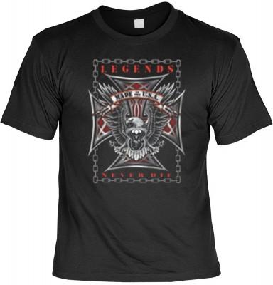 Top Qualität! HK_MTS_01_12650-P16 mit dem Motiv: <br><b>Eagle Adler Made in USA T-shirt Legends Never Die Fb schwarz</b>,fällt sofort ins Auge und sorgt für einen gelungenen Auftritt.<br><br>T-shirt namenhafter Hersteller in bester Qualität, wie <b>Stedma