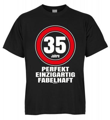 35 Jahre perfekt einzigartig fabelhaft T-Shirt Bio-Baumwolle