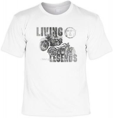 Top Qualität! HK_MTS_02_13362-P13 mit dem Motiv: <br><b>Motorrad Biker Tshirt Living Legends Fb weiß</b>,fällt sofort ins Auge und sorgt für einen gelungenen Auftritt.<br><br>T-shirt namenhafter Hersteller in bester Qualität, wie <b>Stedman</b> oder <b>Fr