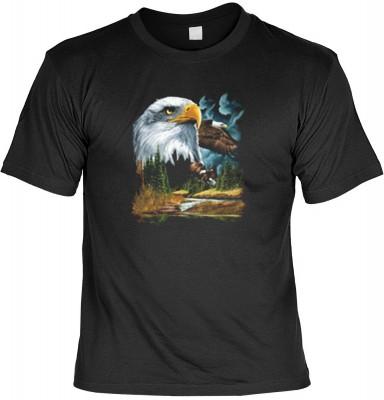 Top Qualität! HK_UCA_01_9691-P16 mit dem Motiv: <br /><b> Mythologie der Ureinwohner Nordamerikas T-Shirt Adler in schwarz </b>,fällt sofort ins Auge und sorgt für einen gelungenen Auftritt.<br /><br />T-shirt namenhafter Hersteller in bester Qualität, wi