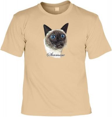 Top Qualität! HK_MTS_14_11838-P8 mit dem Motiv: <br><b>Katzen Rasse TShirt der Siamkatze Fb sand</b>,fällt sofort ins Auge und sorgt für einen gelungenen Auftritt.<br><br>T-shirt namenhafter Hersteller in bester Qualität, wie <b>Stedman</b> oder <b>Fruit