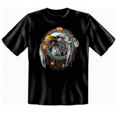 Top Qualität! HK_UCA_01_9945-A mit dem Motiv: <br /><b> Mythologie der Ureinwohner Nordamerikas T-Shirt Indian Eagle in schwarz </b>,fällt sofort ins Auge und sorgt für einen gelungenen Auftritt.<br /><br />T-shirt namenhafter Hersteller in bester Qualitä