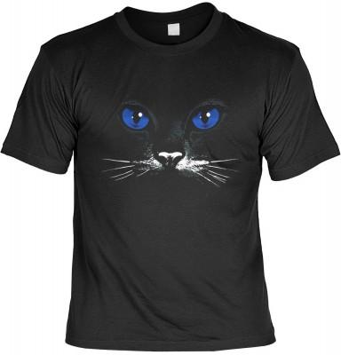 Blue eyes black cat <b>Biker - Motiv T-Shirt</b><br /><br /><b>Angaben zum Produkt vom Hersteller:<br /><br /><b>Das Material ist 100% Baumwolle. </b><b>Die Tshirts haben ein Schulter zu Schulter Nackenband für besseren Tragekomfort. </b><b>Die Shirts hab