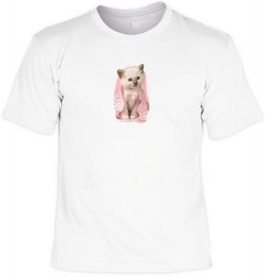Top Qualität! HK_MTS_02_13507HL4 mit dem Motiv: <br><b>kleines Kätzchen Tshirt Rosa Kätzchen Fb weiß</b>,fällt sofort ins Auge und sorgt für einen gelungenen Auftritt.<br><br>T-shirt namenhafter Hersteller in bester Qualität, wie <b>Stedman</b> oder <b>Fr