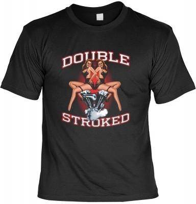 Top Qualität! HK_USA_01_13150-P16 mit dem Motiv: <br><b>Motorradfahrer T-Shirt Double Stroked Fb schwarz auch in 3xL 4xL 5xL</b>,fällt sofort ins Auge und sorgt für einen gelungenen Auftritt.<br><br>T-shirt namenhafter Hersteller in bester Qualität, wie <