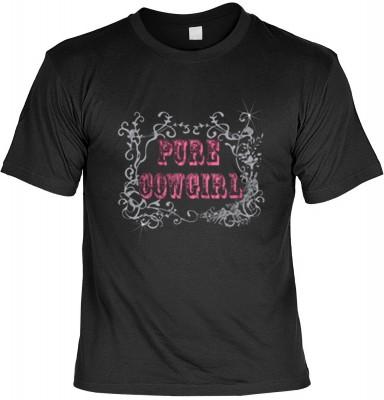 Top Qualität! <b> Faszination Cowboy T-Shirt Pure Cowgirl in schwarz </b>,fällt sofort ins Auge und sorgt für einen gelungenen Auftritt.<br /><br />T-shirt namenhafter Hersteller in bester Qualität. <b><b>Angenehme u. weiche Qualität aus der Naturfaser <b