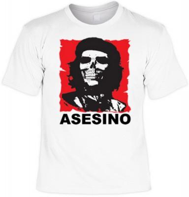 Top Qualität! HK_UCA_02_12694-P16 mit dem Motiv: <br><b>Revolution T-Shirt Che Guevara - Asesino in weiss</b>,fällt sofort ins Auge und sorgt für einen gelungenen Auftritt.<br><br>T-shirt namenhafter Hersteller in bester Qualität, wie <b>Stedman</b> oder