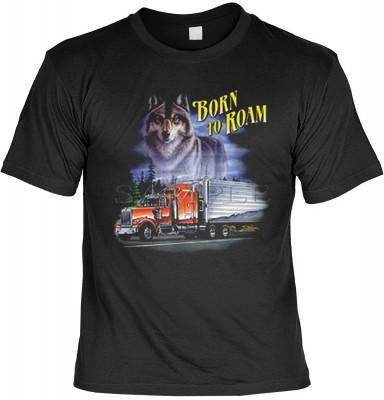 Top Qualität! HK_MTS_01_00301D1 mit dem Motiv: <br><b>Trucker LKW Fahrer T-shirt Born to Roam Fb schwarz</b>,fällt sofort ins Auge und sorgt für einen gelungenen Auftritt.<br><br>T-shirt namenhafter Hersteller in bester Qualität, wie <b>Stedman</b> oder <