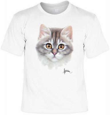 Tabby face cat <b>Biker - Motiv T-Shirt</b><br /><br /><b>Angaben zum Produkt vom Hersteller:<br /><br /><b>Das Material ist 100% Baumwolle. </b><b>Die Tshirts haben ein Schulter zu Schulter Nackenband für besseren Tragekomfort. </b><b>Die Shirts haben ei