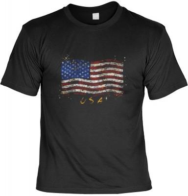 Top Qualität! HK_MTS_01_13130-P13 mit dem Motiv: <br><b>USA T-shirt: Stars &amp Stripes Fb schwarz</b>,fällt sofort ins Auge und sorgt für einen gelungenen Auftritt.<br><br>T-shirt namenhafter Hersteller in bester Qualität, wie <b>Stedman</b> oder <b>Fru