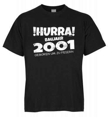 Hurra Baujahr 2001 geboren um zu feiern T-Shirt Bio-Baumwolle