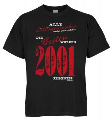 Alle Lieblingsmenschen werden gleich geschaffen die Besten wurden 2001 geboren T-Shirt Bio-Baumwolle
