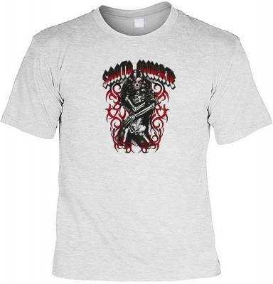 Santa muerta girl mit der Artikel-Nr.: HK_Mot_07_15794-P15<b>Biker - Motiv T-Shirt</b><br><br><br><b><u>Angaben zum Produkt vom Hersteller:</u><br><br><b><i>Das Material ist 100% Baumwolle</b><b>Die Tshirts haben ein Schulter zu Schulter Nackenband für be