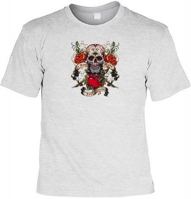 La amor mata lentamente mit der Artikel-Nr.: HK_Mot_07_13134-P16<b>Biker - Motiv T-Shirt</b><br><br><br><b><u>Angaben zum Produkt vom Hersteller:</u><br><br><b><i>Das Material ist 100% Baumwolle</b><b>Die Tshirts haben ein Schulter zu Schulter Nackenband