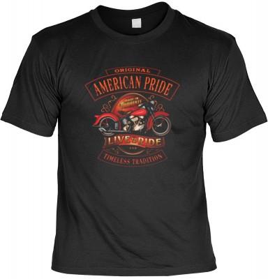 Top Qualität! HK_USA_01_13686-P16 mit dem Motiv: <br><b>Motorradfahrer T-Shirt American Pride - Live and Ride Fb schwarz auch in 3xL 4xL 5xL</b>,fällt sofort ins Auge und sorgt für einen gelungenen Auftritt.<br><br>T-shirt namenhafter Hersteller in bester