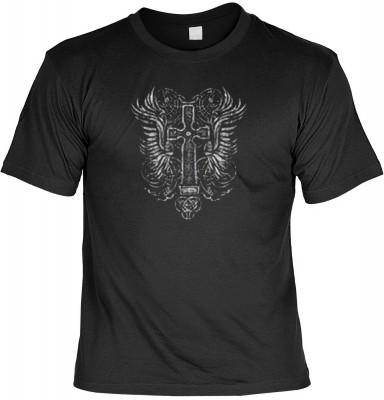 Top Qualität! HK_MTS_01_13336-P13 mit dem Motiv: <br><b>Gothic Cross T-shirt: Kreuz Fb schwarz</b>,fällt sofort ins Auge und sorgt für einen gelungenen Auftritt.<br><br>T-shirt namenhafter Hersteller in bester Qualität, wie <b>Stedman</b> oder <b>Fruit of