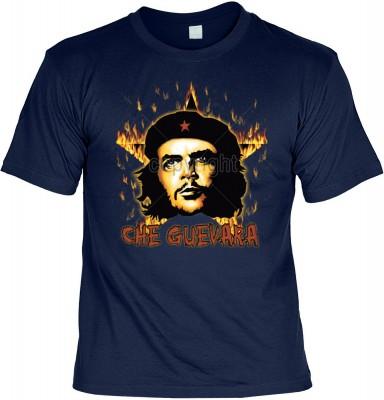 Top Qualität! HK_UCA_05_12104-P16 mit dem Motiv: <br><b>Revolution T-Shirt Che Guevara mit Flammenstern in navy blau</b>,fällt sofort ins Auge und sorgt für einen gelungenen Auftritt.<br><br>T-shirt namenhafter Hersteller in bester Qualität, wie <b>Stedma