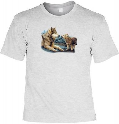 Top Qualität! HK_UCA_07_04720A6 mit dem Motiv: <br><b>Mythologie der Ureinwohner Nordamerikas T-Shirt Brother Wolf in grau</b>,fällt sofort ins Auge und sorgt für einen gelungenen Auftritt.<br><br>T-shirt namenhafter Hersteller in bester Qualität, wie <b>