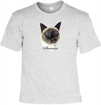 Top Qualität! HK_MTS_07_11838-P8 mit dem Motiv: <br><b>Katzen Rasse TShirt der Siamkatze Fb grau</b>,fällt sofort ins Auge und sorgt für einen gelungenen Auftritt.<br><br>T-shirt namenhafter Hersteller in bester Qualität, wie <b>Stedman</b> oder <b>Fruit