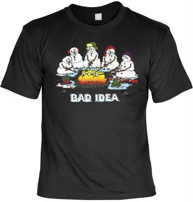 Top Qualität! HK_MTS_01_08940HD4 mit dem Motiv: <br><b>Weihnachten Fun Tshirt Schlechte Idee Fb schwarz</b>,fällt sofort ins Auge und sorgt für einen gelungenen Auftritt.<br><br>T-shirt namenhafter Hersteller in bester Qualität, wie <b>Stedman</b> oder <b