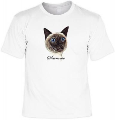 Top Qualität! HK_MTS_02_11838-P8 mit dem Motiv: <br><b>elegante Rasse T-Shirt der Siamkatze Fb weiß</b>,fällt sofort ins Auge und sorgt für einen gelungenen Auftritt.<br><br>T-shirt namenhafter Hersteller in bester Qualität, wie <b>Stedman</b> oder <b>Fru