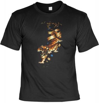 Top Qualität! HK_MTS_01_12830-P14 mit dem Motiv: <br><b>Biker T-shirt: Tiger Fb schwarz</b>,fällt sofort ins Auge und sorgt für einen gelungenen Auftritt.<br><br>T-shirt namenhafter Hersteller in bester Qualität, wie <b>Stedman</b> oder <b>Fruit of the Lo