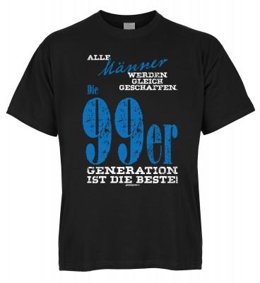 Alle Männer werden gleich geschaffen. Die 99er Generation ist die Beste T-Shirt Bio-Baumwolle