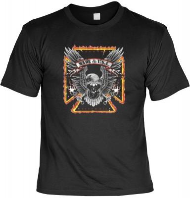 Top Qualität! HK_MTS_01_10570-P16 mit dem Motiv: <br><b>Adler Biker Tshirt Made in the U.S.A. Fb schwarz</b>,fällt sofort ins Auge und sorgt für einen gelungenen Auftritt.<br><br>T-shirt namenhafter Hersteller in bester Qualität, wie <b>Stedman</b> oder <