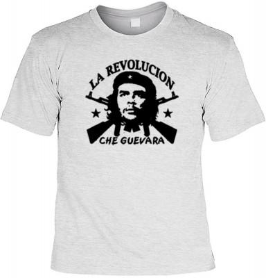 Top Qualität! HK_UCA_07_12404-P11 mit dem Motiv: <br><b>Revolution T-Shirt Che Guevara - La Revolucion in grau</b>,fällt sofort ins Auge und sorgt für einen gelungenen Auftritt.<br><br>T-shirt namenhafter Hersteller in bester Qualität, wie <b>Stedman</b>