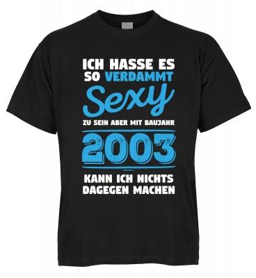 Ich hasse es so verdammt sexy zu sein aber mit Baujahr 2003 kann ich nichts dagegen machen T-Shirt B