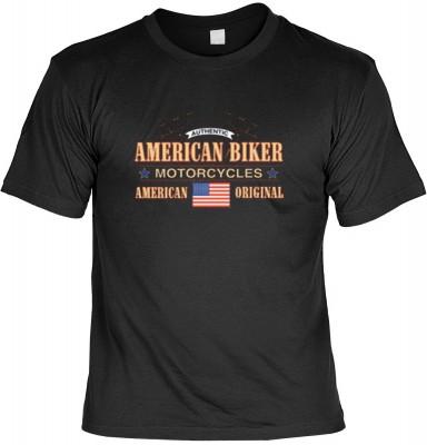 Top Qualität! HK_USA_01_6579-P16 mit dem Motiv: <br><b>Motorradfahrer T-Shirt American Biker Motorcycles Fb schwarz auch in 3xL 4xL 5xL</b>,fällt sofort ins Auge und sorgt für einen gelungenen Auftritt.<br><br>T-shirt namenhafter Hersteller in bester Qual