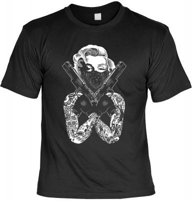 MM Gangsta Pose mit der Artikel-Nr.: HK_Mot_01_17543D0<b>Biker - Motiv T-Shirt</b><br><br><br><b><u>Angaben zum Produkt vom Hersteller:</u><br><br><b><i>Das Material ist 100% Baumwolle</b><b>Die Tshirts haben ein Schulter zu Schulter Nackenband für besser