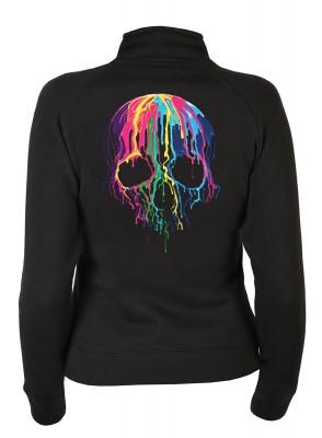 <p>Faszinierende Neon Motive wirken leuchtend, ob zur Party, Freizeit, Disco, immer wieder passend</p>Cooler Damen Design Sweater, sehr weich und flauschiger Kapuzen Sweater,das Material ist 70% Baumwolle und 30% Polyester, das Stoffgewicht beträgt 280 g/