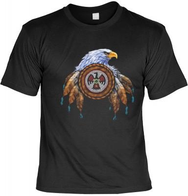 Top Qualität! HK_UCA_01_7632-A mit dem Motiv: <br><b>Mythologie der Ureinwohner Nordamerikas T-Shirt Eagle in schwarz</b>,fällt sofort ins Auge und sorgt für einen gelungenen Auftritt.<br><br>T-shirt namenhafter Hersteller in bester Qualität, wie <b>Stedm