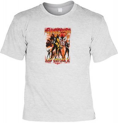 Las chicas X mit der Artikel-Nr.: HK_Mot_07_13143-P22<b>Biker - Motiv T-Shirt</b><br><br><br><b><u>Angaben zum Produkt vom Hersteller:</u><br><br><b><i>Das Material ist 100% Baumwolle</b><b>Die Tshirts haben ein Schulter zu Schulter Nackenband für bessere