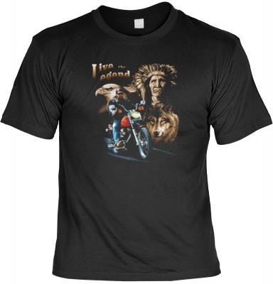 Top Qualität! HK_MTS_01_7805-P16 mit dem Motiv: <br><b>Motorrad Biker Tshirt: Live The Legend Fb schwarz</b>,fällt sofort ins Auge und sorgt für einen gelungenen Auftritt.<br><br>T-shirt namenhafter Hersteller in bester Qualität, wie <b>Stedman</b> oder <