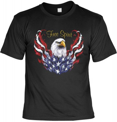 Top Qualität! HK_MTS_01_13222-P16 mit dem Motiv: <br><b>Biker T-shirt: Freier Geist Fb schwarz</b>,fällt sofort ins Auge und sorgt für einen gelungenen Auftritt.<br><br>T-shirt namenhafter Hersteller in bester Qualität, wie <b>Stedman</b> oder <b>Fruit of