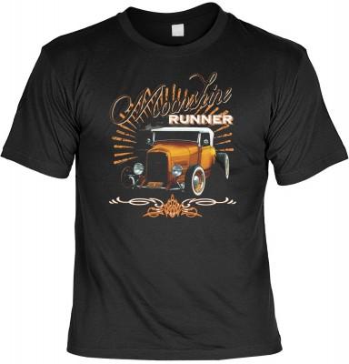 Moonshine runner mit der Artikel-Nr.: HK_Mot_01_15927-P16<b>Biker - Motiv T-Shirt</b><br><br><br><b><u>Angaben zum Produkt vom Hersteller:</u><br><br><b><i>Das Material ist 100% Baumwolle</b><b>Die Tshirts haben ein Schulter zu Schulter Nackenband für bes