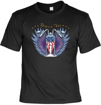Top Qualität! HK_MTS_01_12951-P16 mit dem Motiv: <br><b>Biker T-shirt Born to be Free Fb schwarz</b>,fällt sofort ins Auge und sorgt für einen gelungenen Auftritt.<br><br>T-shirt namenhafter Hersteller in bester Qualität, wie <b>Stedman</b> oder <b>Fruit