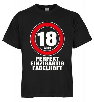 18 Jahre perfekt einzigartig fabelhaft T-Shirt Bio-Baumwolle