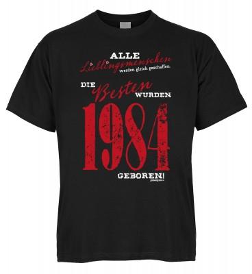 Alle Lieblingsmenschen werden gleich geschaffen die Besten wurden 1984 geboren T-Shirt Bio-Baumwolle