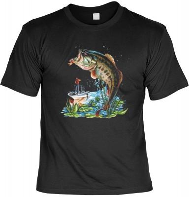 Top Qualität! HK_MTS_01_5737-P16 mit dem Motiv: <br><b>Angler Fisch Tshirt Fishing Fb schwarz</b>,fällt sofort ins Auge und sorgt für einen gelungenen Auftritt.<br><br>T-shirt namenhafter Hersteller in bester Qualität, wie <b>Stedman</b> oder <b>Fruit of