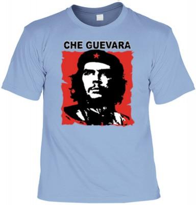 Top Qualität! HK_UCA_15_11211-P16 mit dem Motiv: <br><b>Revolution T-Shirt Che Guevara in skyblau</b>,fällt sofort ins Auge und sorgt für einen gelungenen Auftritt.<br><br>T-shirt namenhafter Hersteller in bester Qualität, wie <b>Stedman</b> oder <b>Fruit