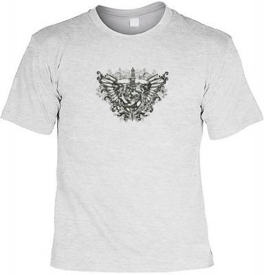 Heart with eyes & wings mit der Artikel-Nr.: HK_Mot_07_12810-P11<b>Biker - Motiv T-Shirt</b><br><br><br><b><u>Angaben zum Produkt vom Hersteller:</u><br><br><b><i>Das Material ist 100% Baumwolle</b><b>Die Tshirts haben ein Schulter zu Schulter Nackenband