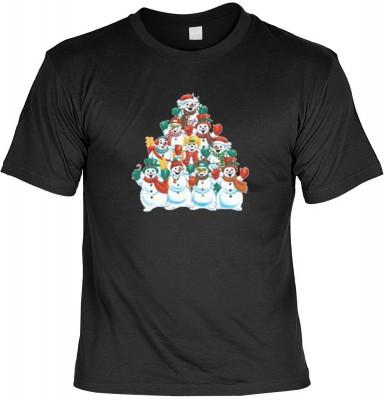 Top Qualität! HK_MTS_01_8434-P13 mit dem Motiv: <br><b>Weihnachten Geschenk Tshirt Schneemänner Fb schwarz</b>,fällt sofort ins Auge und sorgt für einen gelungenen Auftritt.<br><br>T-shirt namenhafter Hersteller in bester Qualität, wie <b>Stedman</b> oder