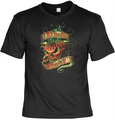 Top Qualität! HK_MTS_01_15414D2 mit dem Motiv: <br><b>Halloween Grusel Tshirt Trick or Treat - Kürbis Fb schwarz</b>,fällt sofort ins Auge und sorgt für einen gelungenen Auftritt.<br><br>T-shirt namenhafter Hersteller in bester Qualität, wie <b>Stedman</b